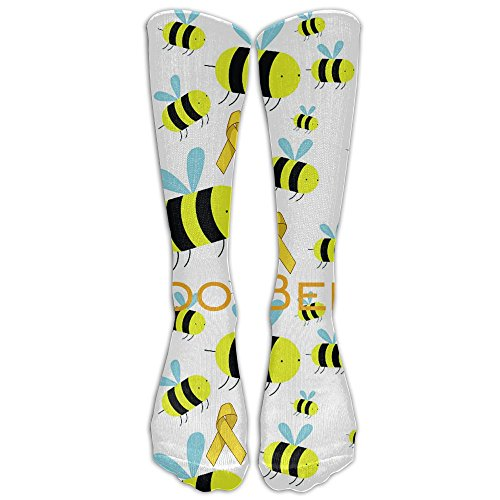 Unisex Breast Cancer Boo-Bees Fashion Stocking Socks Athletic Sock Long Sock by Drunk Alone