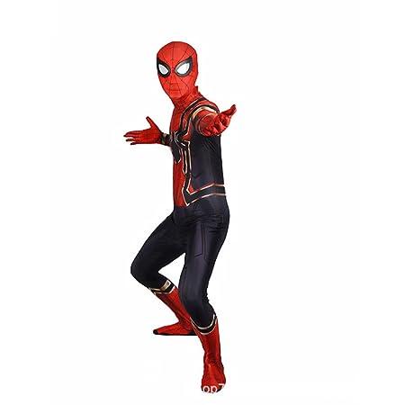 ZHANGQI Adulto/Niños Cosplay Disfraces Spider-Man Ropa Flaca ...