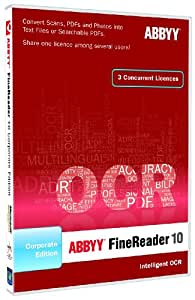 ABBYY FineReader 10 Corporate Edition - Sistemas OCR (1300 MB, 512 MB, 1 GHz, 3 usuario(s), ENG)