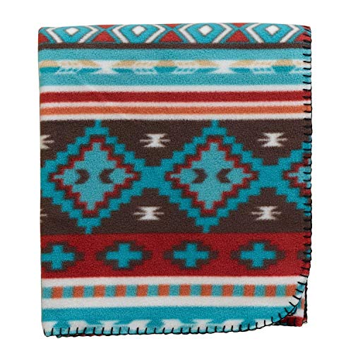 DII Rio Grande Stripe Fleece Throw Blanket, Multi (Fleece Stripes Throw)