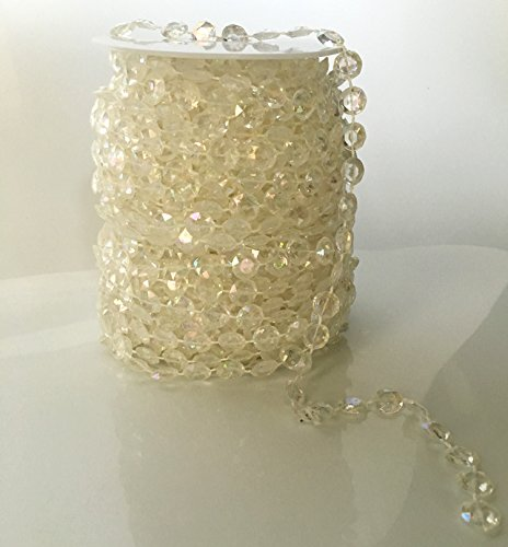 Lowest Price! Clear Diamond Garland Strand Crystal Beads Roll for Wedding Home Christmas Decoration ...