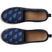 NFL Team Logo Womens Canvas Espadrille Slip On Flats Shoes