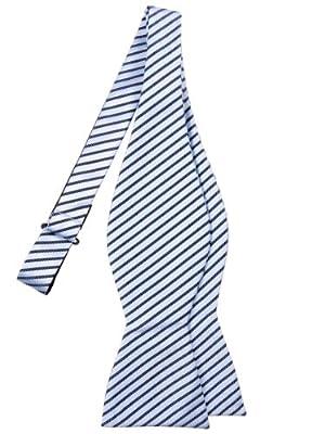 Retreez Modern Stripe Woven Microfiber Self Tie Bow Tie - Various Colors