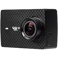 Yi 4K Plus Action Fotocamera 4K/FPS 12MP Action Cam con 5,56cm (2,2Pollici) LCD Touch Screen 155° Obiettivo Grandangolare, Comando Vocale, WiFi e App per iOS/Android–Nero
