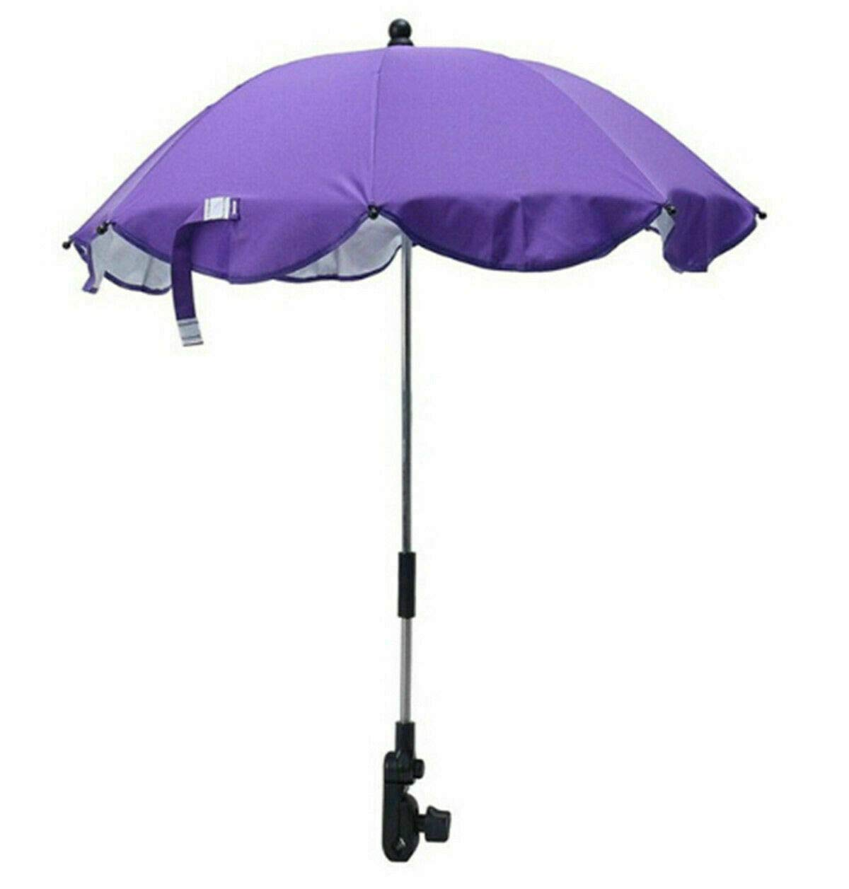 Global Supplies Present Flexible Baby Sun Umbrella Parasol Buggy Pushchair Shade in Purple