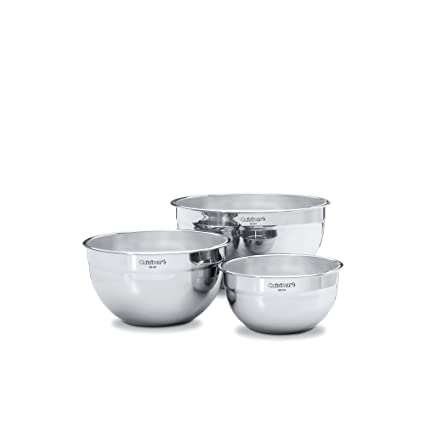 Amazon.com: Cuisinart 3-Piece Stainless Steel Mixing Bowl Set ...
