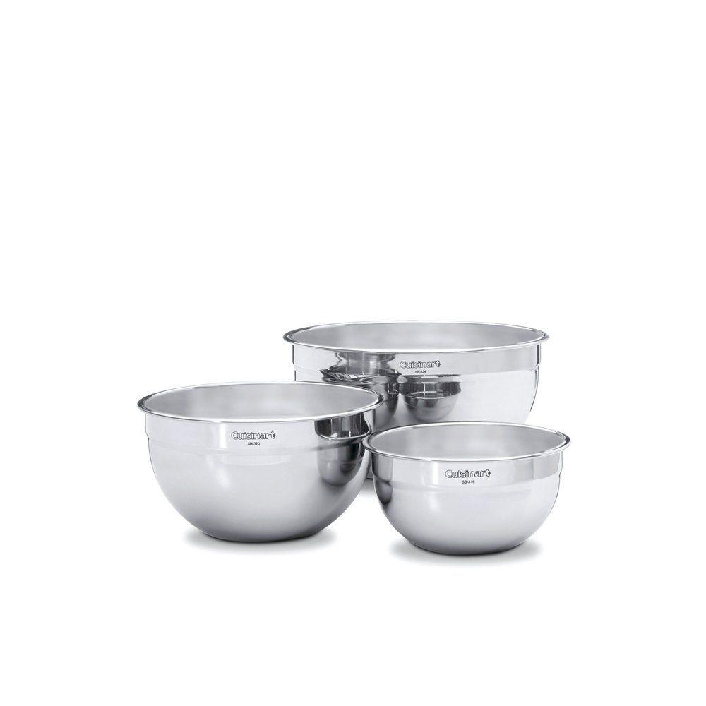 Cuisinart 3-Piece Stainless Steel Mixing Bowl Set
