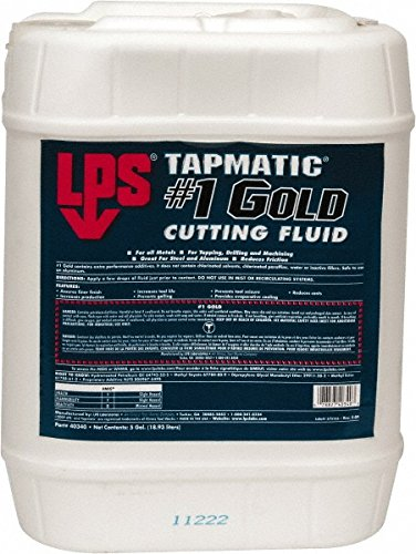 LPS 40340 Tapmatic #1 Gold Cutting Fluid, 5 gal, Gold