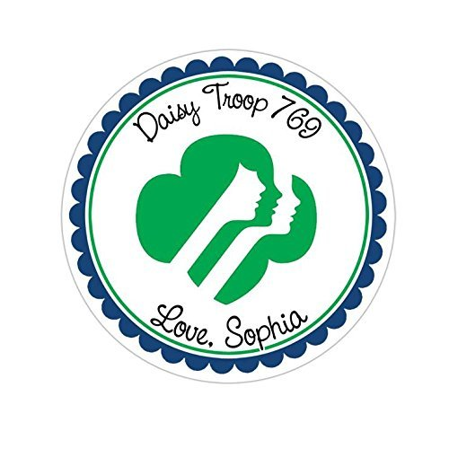 Personalized Customized Stickers - Girl Scout - Round Labels - Choose Your Size from INKtropolis