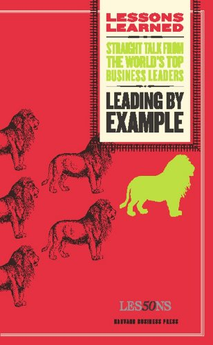 - Leading by Example (Lessons Learned)