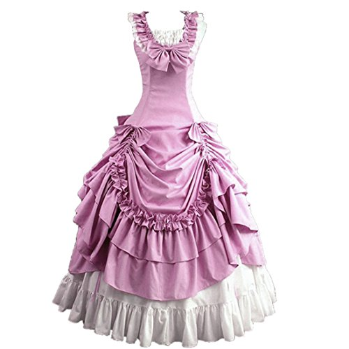 Loli Miss Womens Sleeveless Bowknot Gothic Lolita Dress