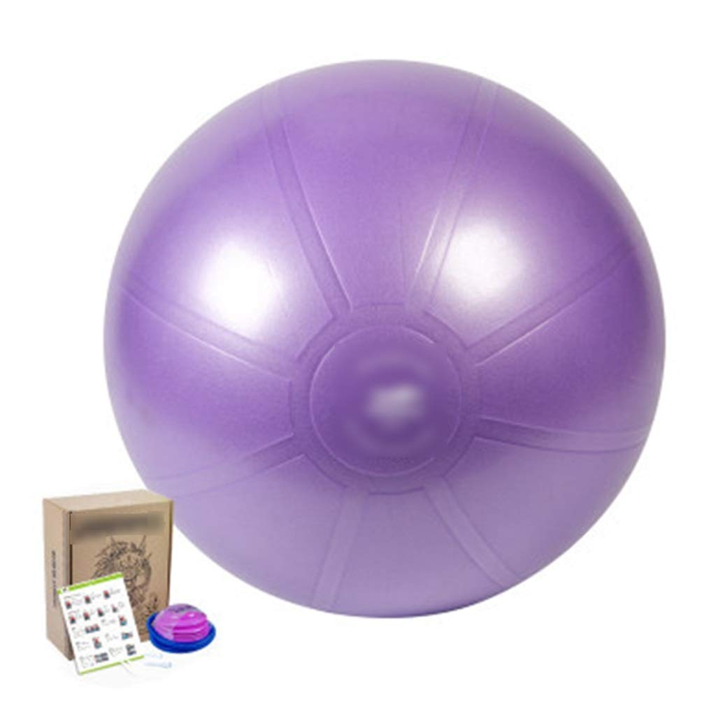 Sports Fitness Yoga Ball Indoor Fitness Ball Outdoor Play Ball Explosion-Proof Balance Ball Inflatable Yoga Ball Children Sense Training Swiss Ball (Load: 120kg) Exercise Ball Chairs