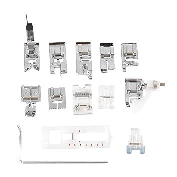 13pcs prensatelas de coser pies multifuncional máquina de coser partes prensa pie máquina de coser accesorios: Amazon.es: Hogar
