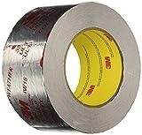 3M Silver Foil Tape 3340, 2-1/2'' x 50 yd, 4.0 mil