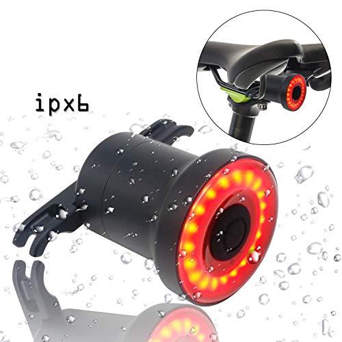 Bike Light Rechargeable Auto On//Off, Nkomax Smart Bike Tail Light Ultra Bright