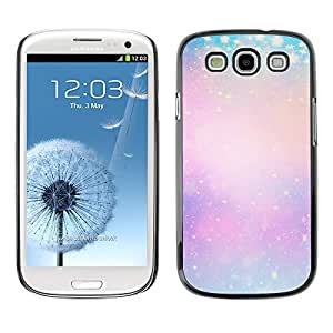 Planetar® ( Blue Purple Yellow Winter Snow Pink ) SAMSUNG Galaxy S3 III / i9300 / i747 Fundas Cover Cubre Hard Case Cover