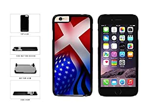 Wishing Denmark And USA Mixed Flag Plastic Phone Case Back Cover Apple iPhone 6 (4.7 Inches)