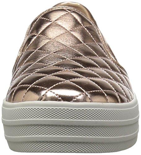 Skechers Damen Double Up-Duvet Slip On Sneaker Gold (Rose Gold)