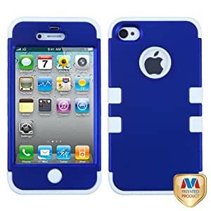 MYBAT IPHONE4AVHPCTUFFSO026NP Premium TUFF Case for iPhone 4 - 1 Pack - Retail Packaging - Titanium Dark Blue/...