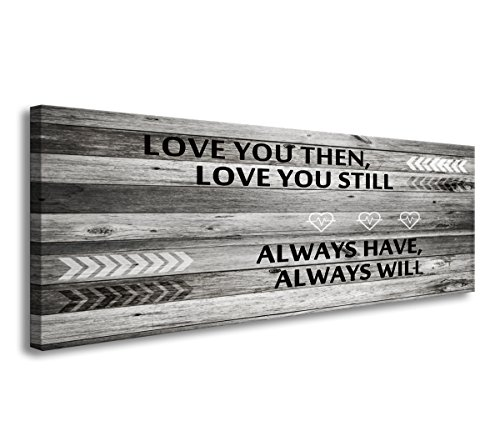A71841 Canvas Wall Art Love You Still Large Wall Art (Wood Frame Ready to Hang) for Wall Decor by DZL Art