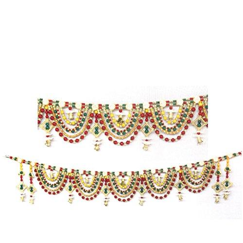 AMBA HANDICRAFT Door Hanging Toran Window Valance Dream Catcher Home Décor interior pooja bandanwaar Diwali gift festival colorful indian handicraft love.TORAN373