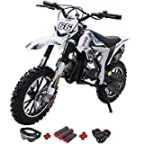 X-PRO Bolt 50cc Dirt Bike Gas Dirt Bike Kids Dirt Bikes Pit Bikes Youth Dirt Pitbike 50cc Mini Dirt Bike with Gloves, Goggle and Handgrip(Black)