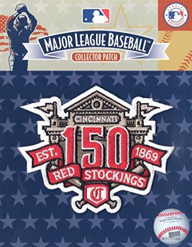 CINCINNATI REDS 150TH ANNIVERSARY HOME JERSEY SLEEVE COLLECTORS PATCH