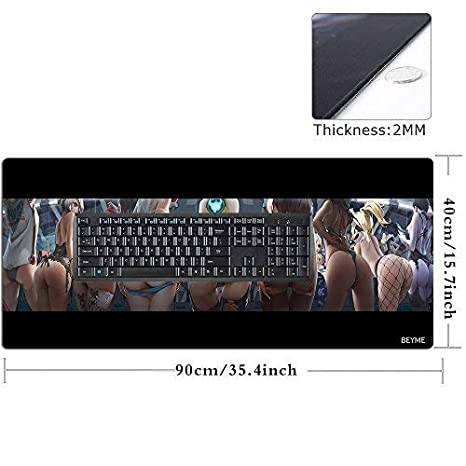 PC and Laptop 90x40 CAapfutou050 Large Mouse Mat with Anti-Slip Rubber Base Support for Computer Beyme Extended Gaming Mouse Pad