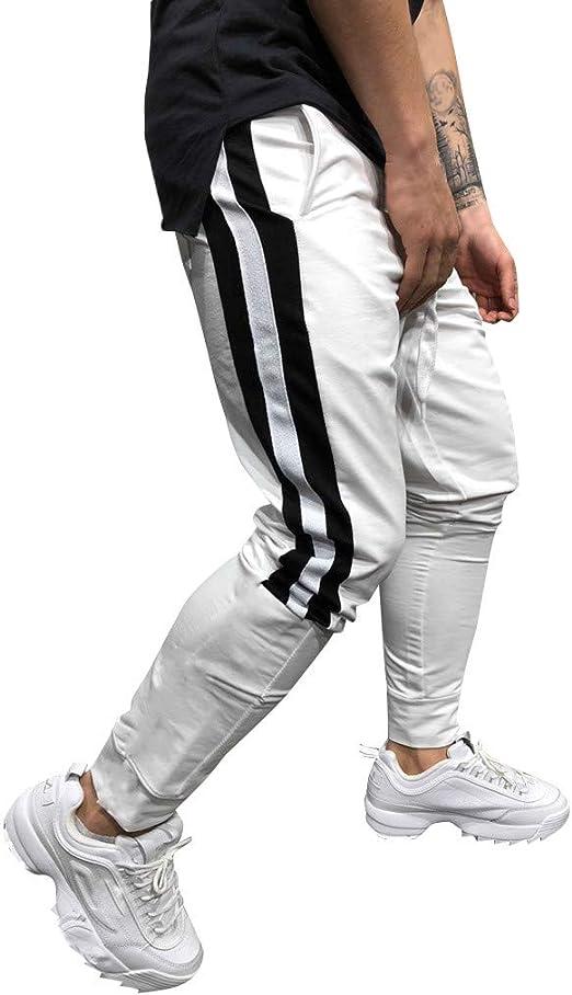 Pantalones Deportivos Chandal Hombres LMMVP Pantalon de Moda Pantalones de Cargo Joggers Sport Casual Drawstring Pants Pantalones de Algodón Pantalones de Rayas Deportes Yoga Running Chándal: Amazon.es: Ropa y accesorios