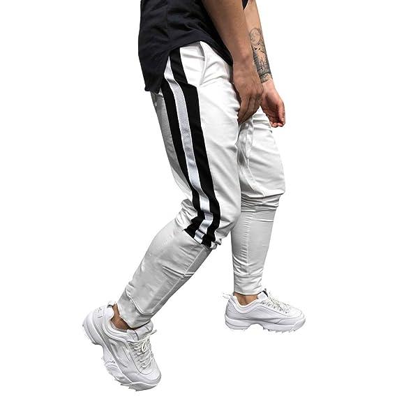 Pantalones Hombre Chándal de Hombres Impresión Color sólido ...