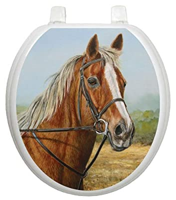 Toilet Tattoos, Toilet Seat Cover Decal, Proud Moment Horse, Size Round/standard