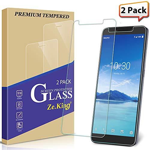 [2-Pack] Alcatel 7 Folio / 6062W Screen Protector, Alcatel Revvl 2 Plus (2018) Tempered Glass, Zeking Drop Defence[Anti Scratch][Anti-Fingerprint] Bubble Free, Lifetime Replacement Warranty