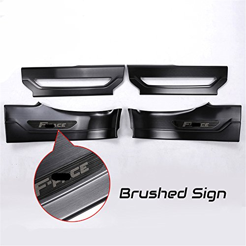 4 Pcs Fit for Jaguar F Pace F-Pace X761 2016 2017 2018 Black Door Sill Scuff Plate Guard Sill Protector Trim - Brushed Sign by KPGDG