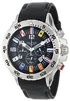Nautica Men's N16553G NST Chronograph Flag Black Dial Watch by Nautica