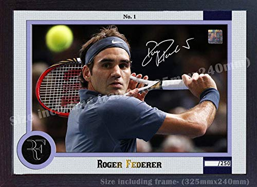 S&E DESING Roger Federer No 1 Signed Autograph Photo Poster Print Picture Tennis Framed