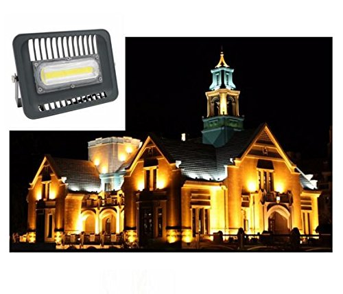 Best to Buy 100w COB flood lights 2.0 Projector Waterproof IP66 for Outdoor, 3000K, , 500W Halogen Equivalent, Security Lights, Flood Light, Warm White (100)