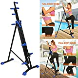 Vertical Mountain Climber Exercise Machine, 2 In 1 Foldable Vertical Stair Step Climber Stepper Exercise Fitness Climbing Machine