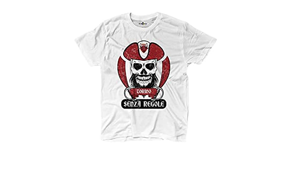 Camiseta camiseta hombre fútbol pirata Torino ultras Granada Fans Sport sin Rego: Amazon.es: Deportes y aire libre