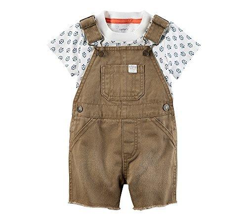 Carter's Baby Boys' 2 Piece Tee And Shortalls Set 3 - Boy Baby Shortalls