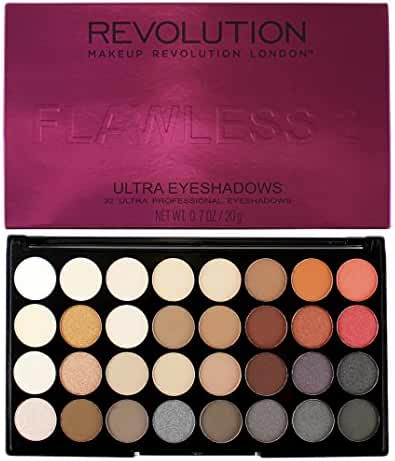 Makeup Revolution Ultra Eyeshadows Palette - FLAWLESS 2 - 32 Ultra Professional Eyeshadows