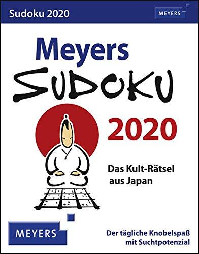 Meyers Sudoku Meyers. Tischkalender 2020. Tageskalendarium. Blockkalender. Format 11 X 14 Cm