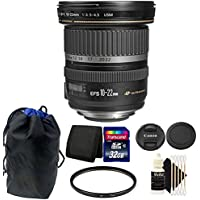 Canon EF-S 10-22mm f/3.5-4.5 USM Lens 32GB Accessory Kit for Canon DSLR Camera
