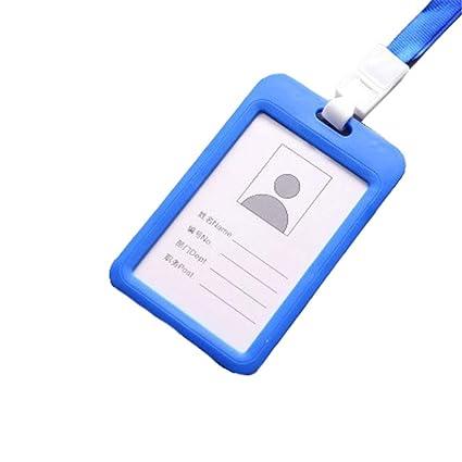 Ogquaton Titular de la tarjeta de identificación Identificador de doble cara Titular de la tarjeta IC Tipo vertical Soporte de la tarjeta de plástico ...