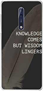 Nokia 8 Knowledge come but Wisdom lingers, Zoot Designer Phone Covers
