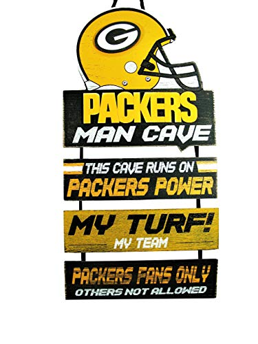 Forever Collectibles NFL Green Bay Packers Wood SignMan Cave Design, Team Colors, One Size from Forever Collectibles