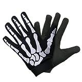 UNIK Biker Skull Bone Skeleton Mechanic Gloves MEDIUM