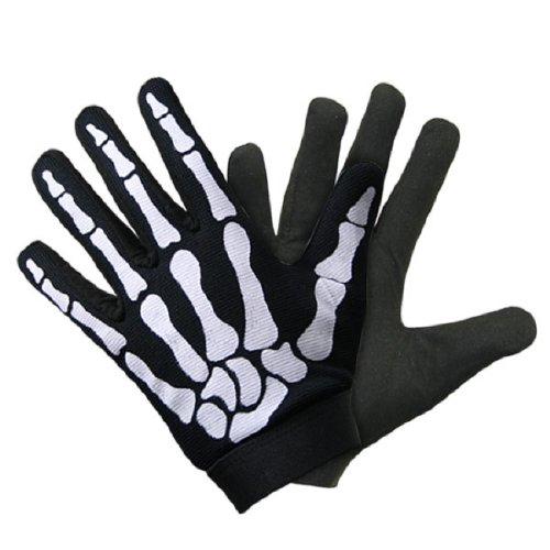 UNIK Biker Skull Bone Skeleton Mechanic Gloves LARGE ()