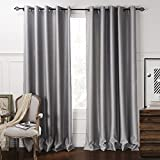 Cheap IYUEGO Luxury European Style Jacquard Chenille Silky Fabric Grommet Top Lining Blackout Curtains Drapes With Multi Size Custom 100″ W x 108″ L (One Panel)