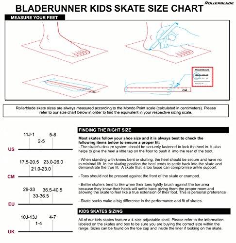 Bladerunner by Rollerblade Phoenix Boys Adjustable Fitness Inline Skate, Black and Silver, Junior, Value Performance Inline Skates by Bladerunner (Image #4)