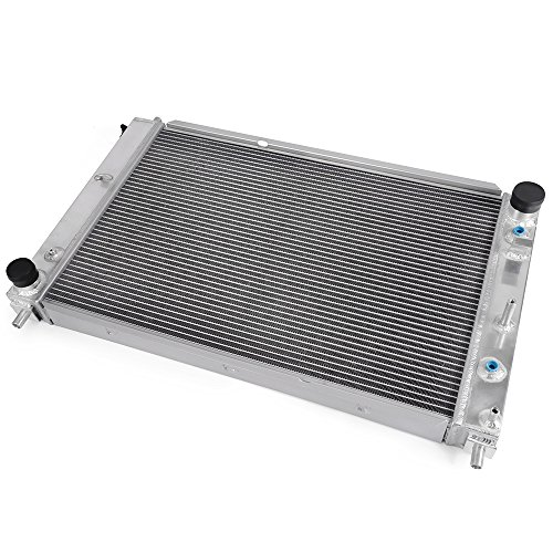 Aluminum 2-row Racing Radiator Fit for 1997-2004 Ford Mustang GT SVT V8 4.6L/5.4L Auto AT,Silver